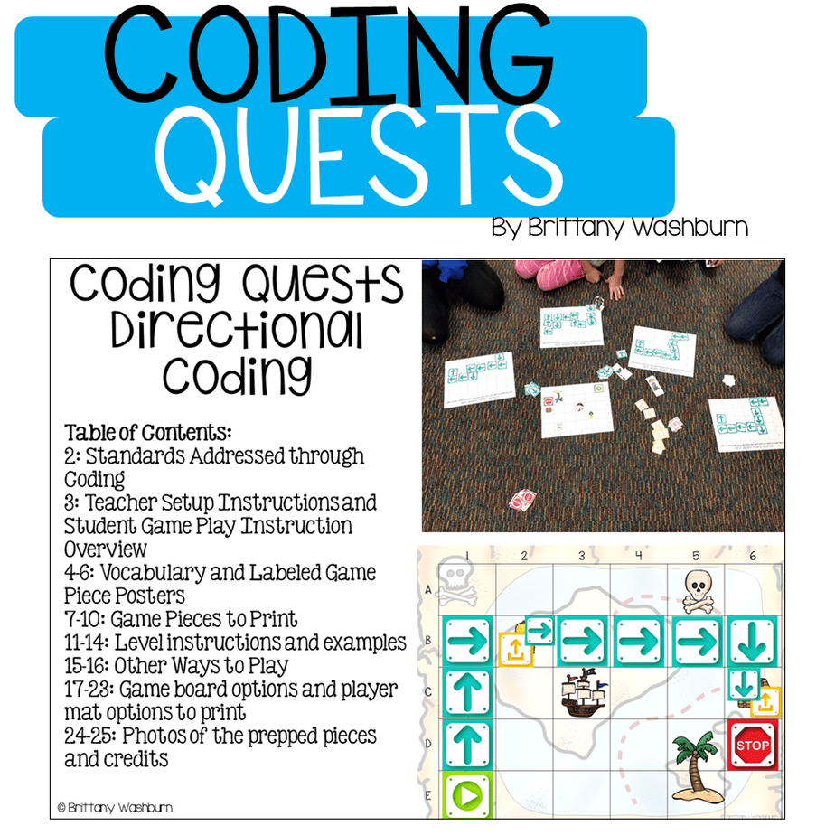 Coding Quests Board Games Bundle Technology Curriculum