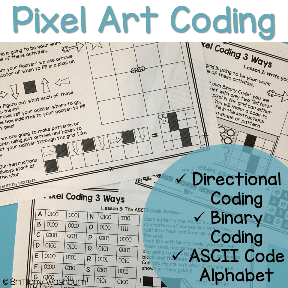 Pixel Art Coding 3 Unplugged Computer Science Lessons