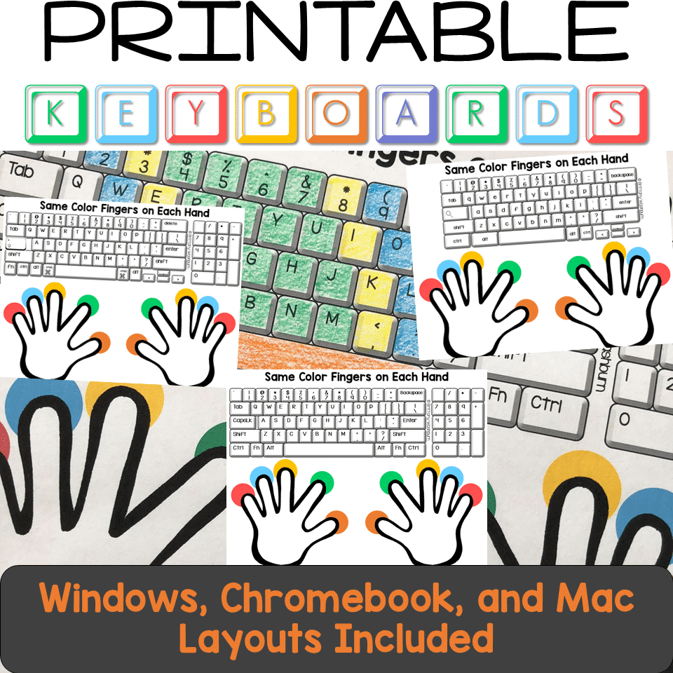It is a picture of Printable Keyboards for mini