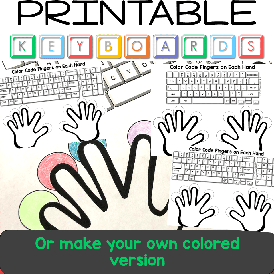 This is a photo of Printable Keyboards for learning