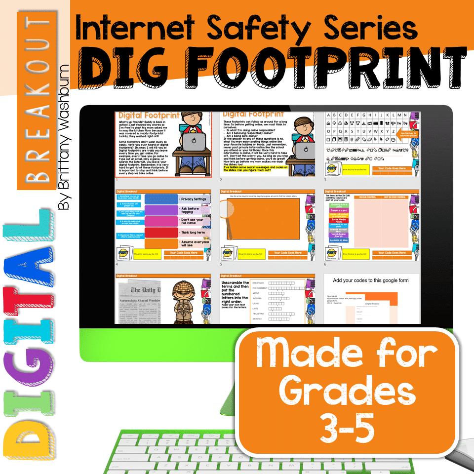 Digital Breakout Internet Safety Digital Footprint