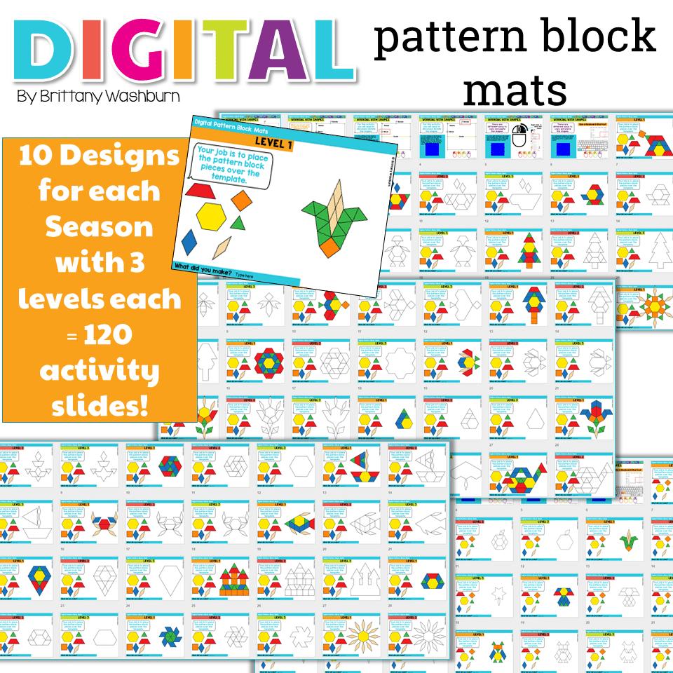 Pattern Block Mats Best Decoration