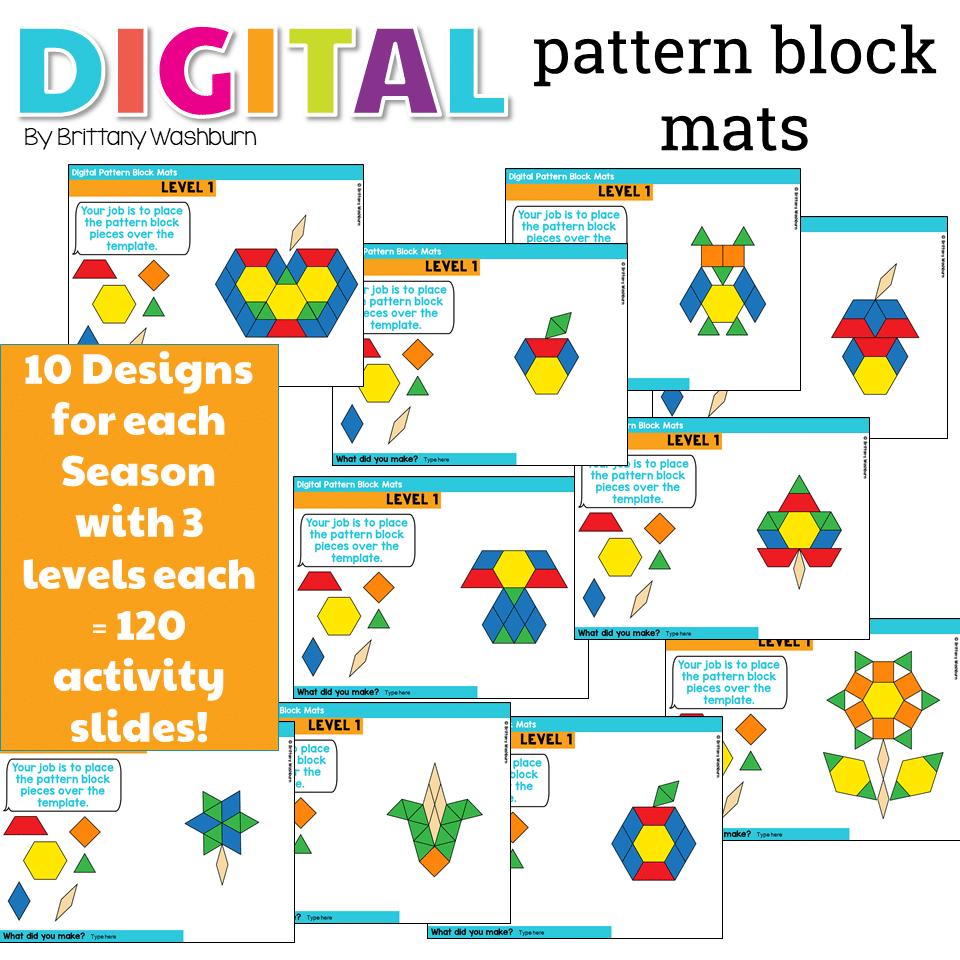 Pattern Block Mats Amazing Inspiration Ideas