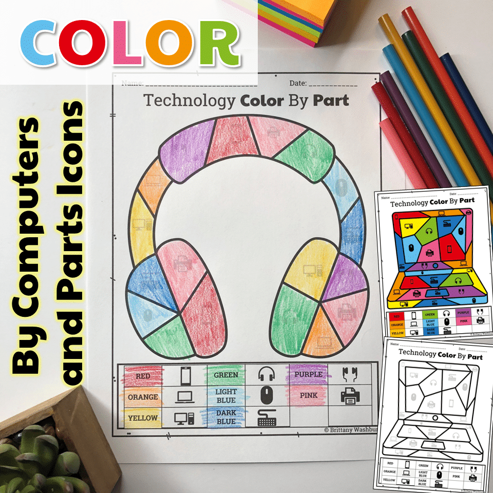 photo regarding Printable Technology called Know-how Coloration As a result of Computer systems and Sections Printable Worksheets