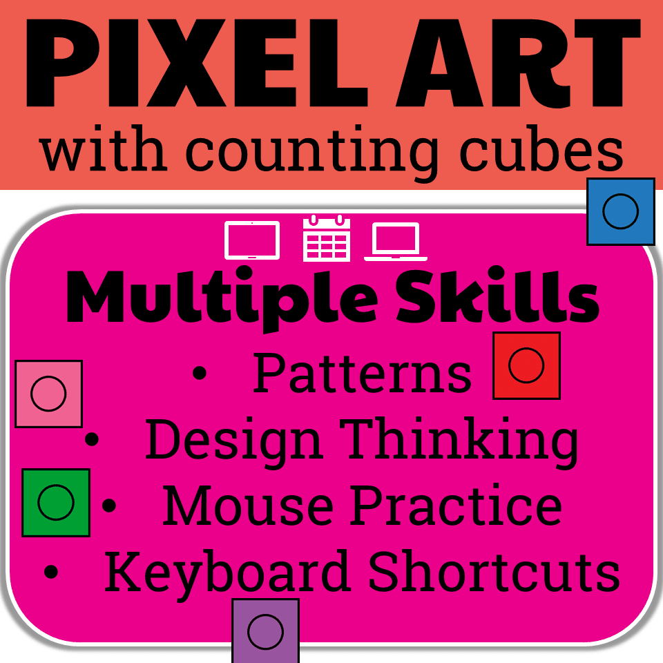 Valentine's Day Pixel Art with Counting Cubes - Technology Curriculum