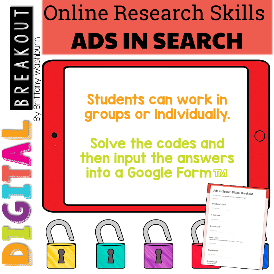 Online Research Skills Digital Breakout: Ads in Search Results