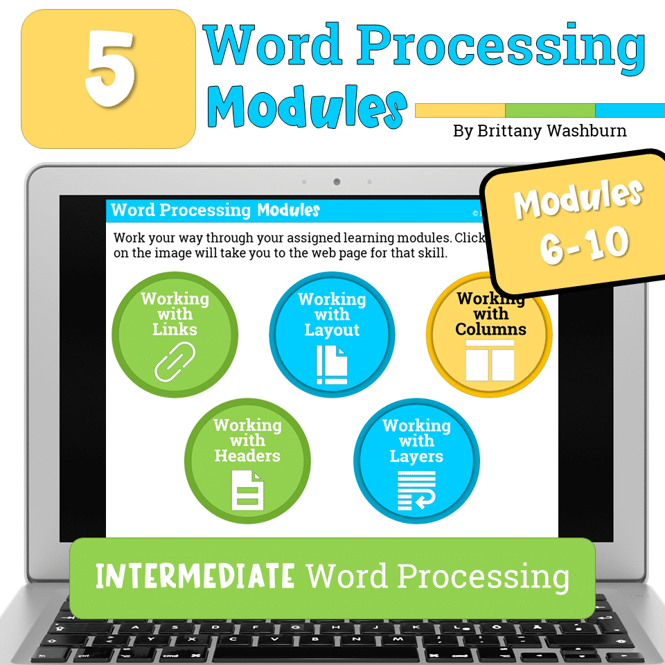 word processing modules 6-10